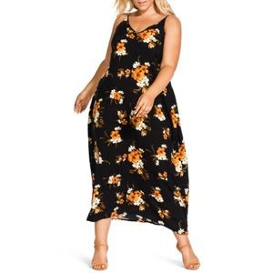 New City Chic Aruba Flora Print Maxi dress 16